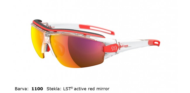 Sportna Ocala Evil Eye Trace Pro E001 75 1100 EE Clear Transparent LST Active Red Mirror Back