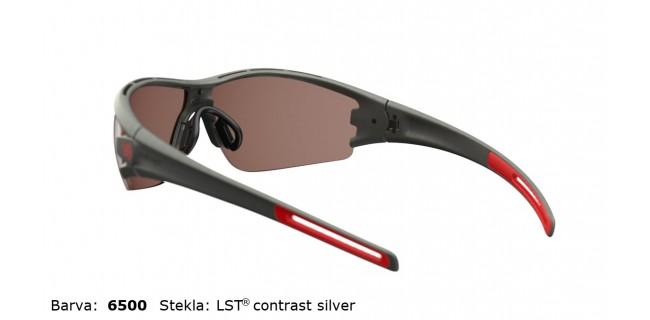 Sportna Ocala Evil Eye Trace E002 75 6500 Dark Olive Met LST Contrast Silver BG White Front
