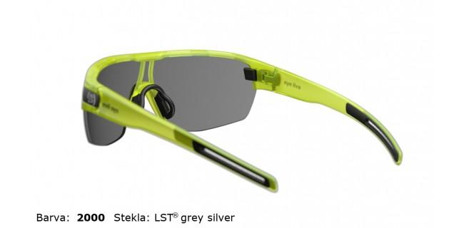 Sportna Ocala Evil Eye Vizor Hr E010 75 2000 Yellow Trans Matt LST Grey Silver BG White Back
